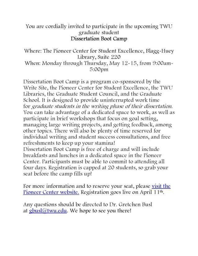 DissertationBootCamp