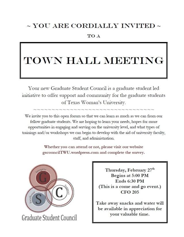 GSC TownHall Invitation