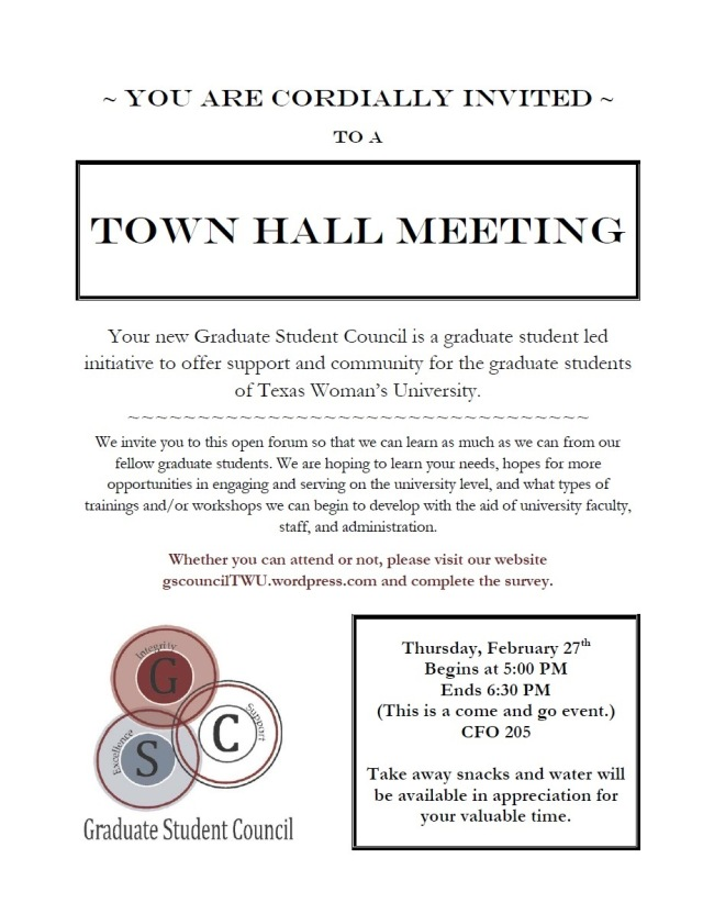 GSC TownHall Invitation