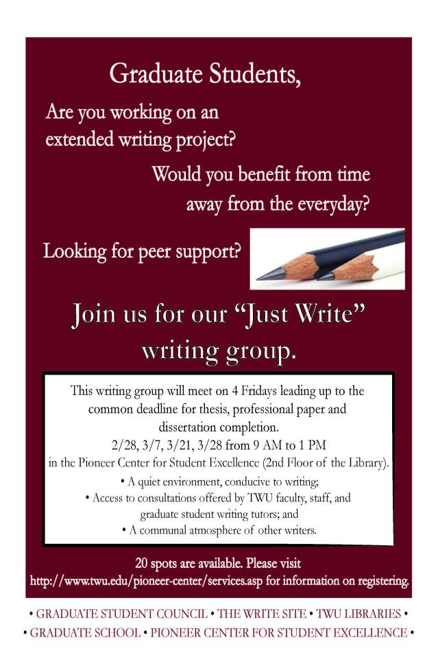 Just Write Flyer