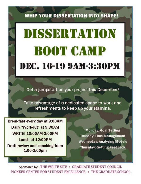 dissertation boot camp northwestern